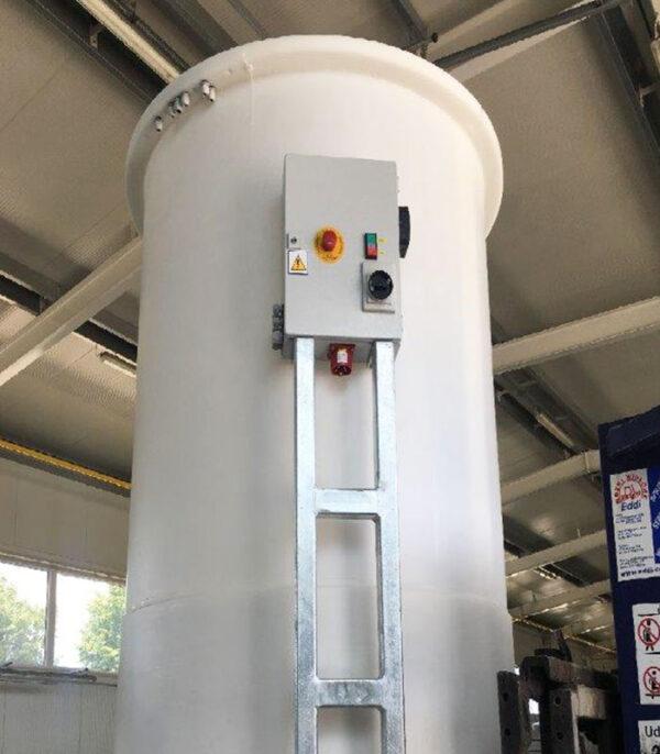 Zbiornik chemoodporny koagulantów żelazowych PIX o pojemności od 1,6 do 21 m3