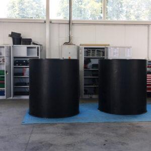 zbiornik zarobowy cylindryczny koagulantu PIX / PAX z tworzywa PE / PP polski producent