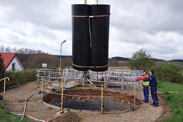 montaż wykładziny płaszcza zbiornika osadnika wstępnego producent wykładzin z tworzywa