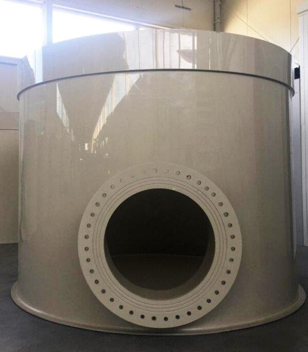 zbiornik produkcja z tworzywa wysoka odporność na chemikalia z płaszczem ochronnym